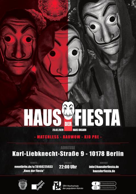 Haus der Fiesta Haus des Geldes Mottoparty Berlin Netflix